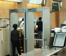 Airport security officers are typically stationed in security offices and dispatched to various locations.