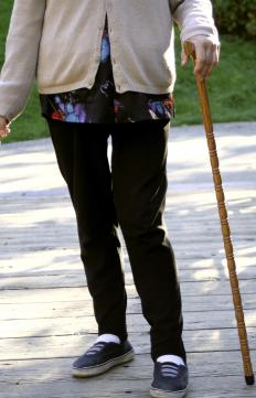 A cane holster may benefit someone who uses a walking cane.