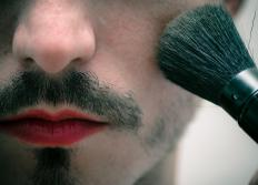 Men interested in wearing costume makeup may prefer darker shades of blush.