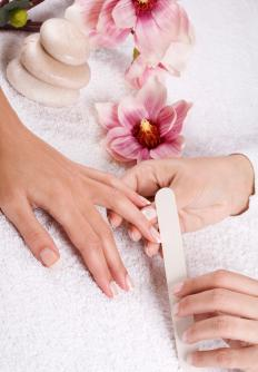 An individual's nails must be cleaned, buffed, and filed prior to solar nail application.
