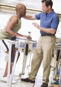A travel physical therapist assistant may help a physical therapist treat amateur athletes.