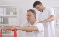 Physical therapy may be part of rehabilitation.