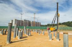 Piling helps create a deep foundation for large structures.