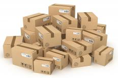 A tariff is often applied to packages containing imported goods.