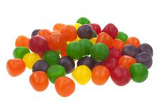 Acid levels determine the sourness level of sweet and sour candy.