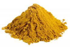 Turmeric powder.