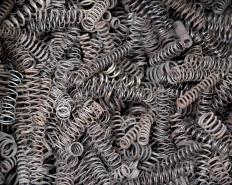 Coil springs resemble ringlets in shape, and may be found in furniture.