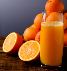 A small glass of orange juice can jump start a release of glucagon for diabetic patients.