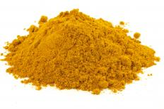 Curcumin is responsible for the yellow coloring found in turmeric powder.