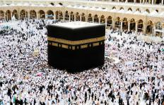 Able-bodied Muslims are expected to make at least one pilgrimage to the Kaa'ba in Mecca during their lives.
