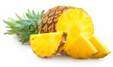 Pineapple is crushed for use in scalloped pineapple.