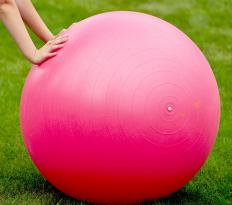 Exercise balls are also known as therapy balls.