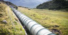 Pipelines are used to transport gases, liquids, or sealed pneumatic capsules.