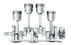 The piston skirt is the bottom part of the cylinder-shaped pistons.