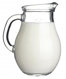 A pitcher of homogenized milk.