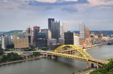 Pittsburgh is known for its many bridges, including several lift bridges.