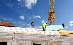 Foam is a popular type of roof insulation.