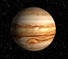 Jupiter's core is thought to be around 20-30 kiloKelvin.