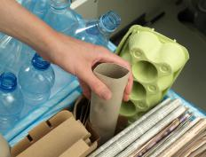 Styrofoam™ can be dropped off at a recycling center.
