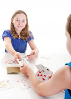 Slapjack is an easy card game that can be played by fairly young children.