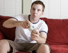 A man playing a video game.