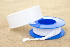 Plumber's tape—which comes in both Teflon and metal forms—is used to seal against leaks, as well as mechanical support.