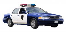 LED light bars may be featured on police cars.