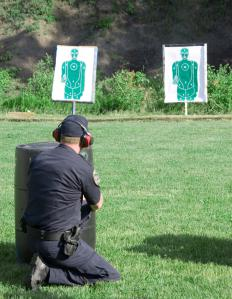 A man at a shooting range.