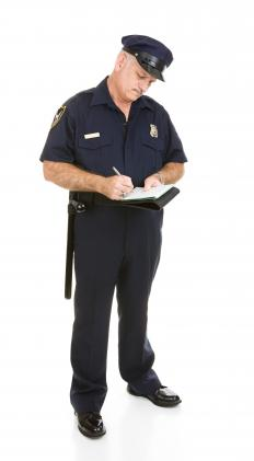 Police officers may write tickets for drivers who don't have insurance.