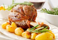 Pork shank is from the lower half of the leg.