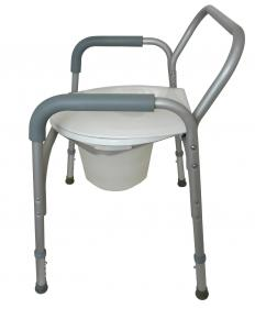 A bedside commode is an example of equipment used toward the end of life.