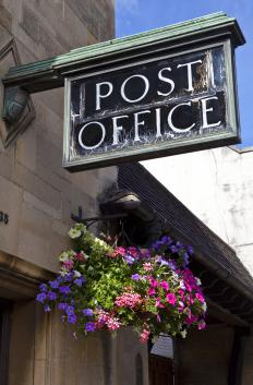 Post offices use logistics management to sort and send mail.