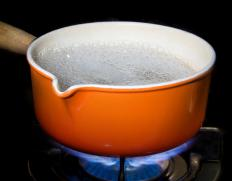 Turning a stove's heating element on high can boil water.