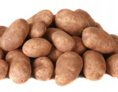 Potatoes that are cooked with brisket absorb some of the meat's flavor.