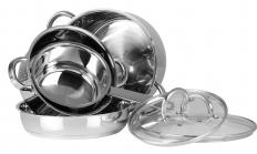 Semi-steel is used to make cookware.