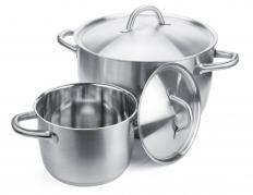 Stainless steel pots are durable, although they conduct heat poorly.