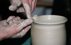 Ceramicists use clay to create pottery.
