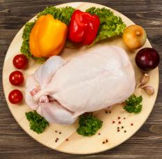 Salmonella, which can contaminate raw chicken, is an example of an enteric disease-causing bacteria.