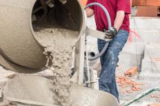 Porous concrete is designed to trap water and allow it to trickle down to the ground below.