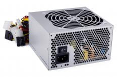 Computer power supplies commonly use analog semiconductors to transform AC voltage to DC.