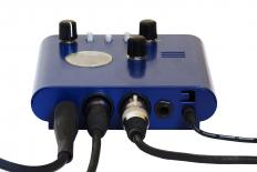 A preamplifier is used to adjust the tone and clarity of an instrument.
