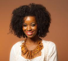 Afro ponytails are considered a good way to showcase naturally curly African-American hair.