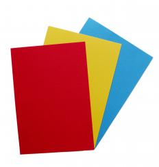 Children sometimes use construction paper to create colorful placemats.