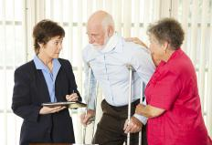 People with hip flexor pain may require crutches to walk.