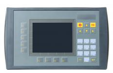 A programmable logic control unit, which helps monitor an automated process.