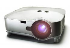 Some home theaters feature a projector.