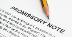 Types of investment instruments may include promissory notes.