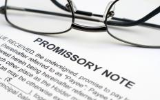 A promissory note.