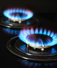 A propane appliance that is functioning properly and producing an ideal burn of hydrocarbon will give off a blue flame.
