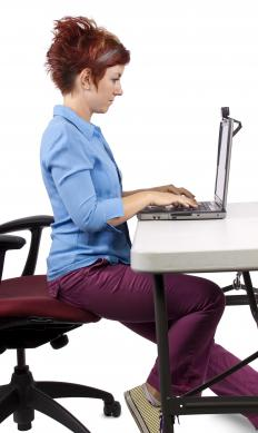 Adjusting one's posture or computer monitor may help prevent or reduce neck pain.